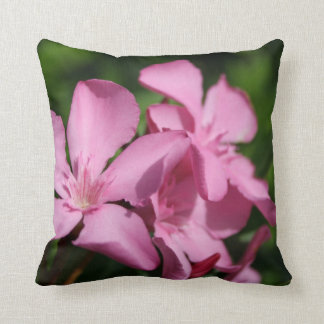 Pink Oleander Blossom Pillows