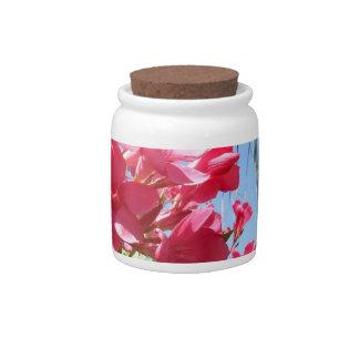 Pink Oleander Candy Jar
