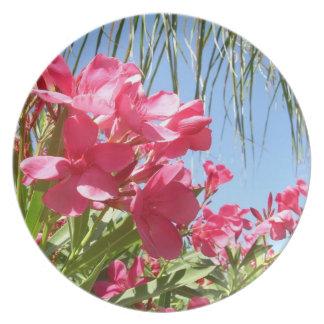 Pink Oleander Plate