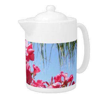 Pink Oleander Tea Pot