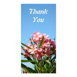 Pink Oleander thank you Photo Card