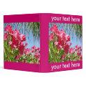 Pink Oleanders Binder binder