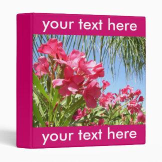 Pink Oleanders Personalized  Binder