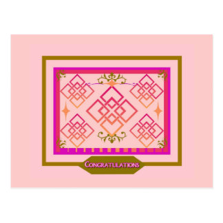 Pink Olive  Congratulations Post Card