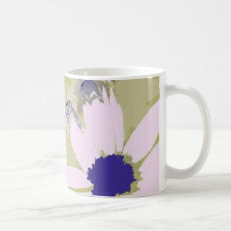 Pink Olive Green Daisy Floral Art Coffee Mug