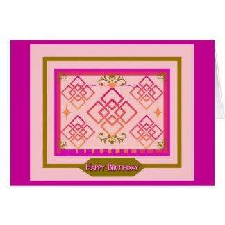 Pink Olive  Happy Birthday Card