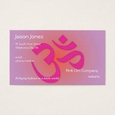 Pink Om Symbol Business Card at Zazzle