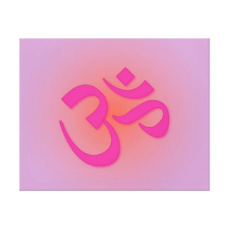 Pink Om Symbol Canvas Print