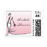 Pink Ombre Bridal Shower Postage Stamps