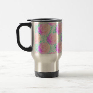 Pink Ombre Cake Rose Kawaii Mint Beaded Decoden 15 Oz Stainless Steel Travel Mug