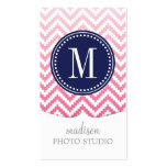 Pink Ombré Chevron Aztec Tribal Personalized Business Cards