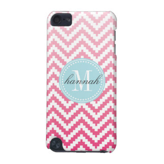 Pink Ombré Chevron Aztec Tribal Personalized iPod Touch 5G Case