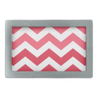 Pink Ombre Chevron Stripes Belt Buckle