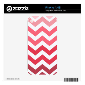 Pink Ombre Chevron Stripes iPhone 4 Skins