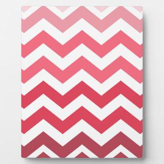 Pink Ombre Chevron Stripes Plaque