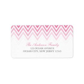 Pink Ombre Chevrons Custom Address Label