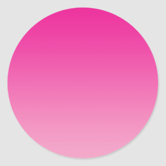 Pink Ombre Classic Round Sticker