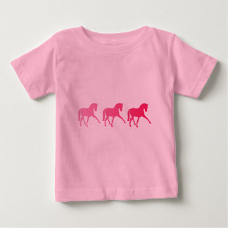 Pink Ombre Dressage Sidepass Baby T-Shirt