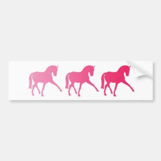 Pink Ombre Dressage Sidepass Bumper Sticker
