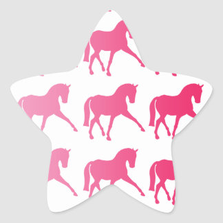 Pink Ombre Dressage Sidepass Star Sticker