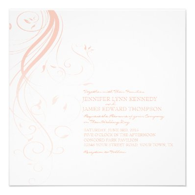 The Most Beautiful Wedding Invitations RSVP Cards And Much More Pink Ombre Flourish Wedding