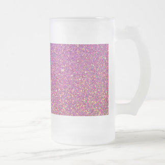 Pink Ombre Glitter Background Frosted Glass Beer Mug