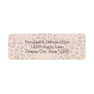 Pink Ombre Gold Leopard Print Label