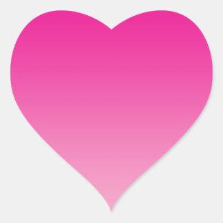 Pink Ombre Heart Sticker