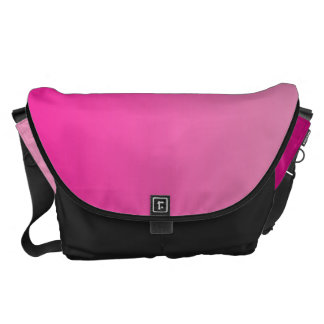 Pink Ombre Large Courier Bag