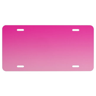 """Pink Ombre"" License Plate"