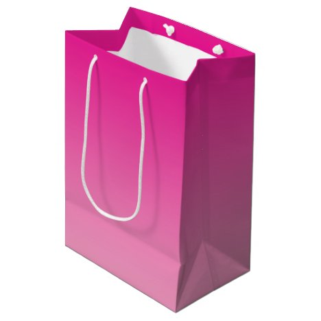 Pink Ombre Medium Gift Bag