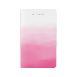 Pink Ombre Personalized Large Moleskine Notebook