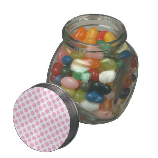 Pink Ombre Polka Dots Glass Jars