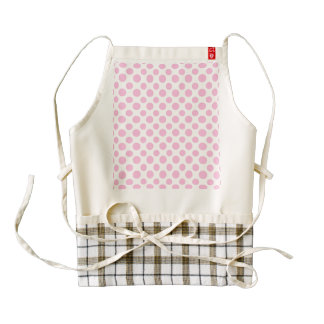 Pink Ombre Polka Dots Zazzle HEART Apron