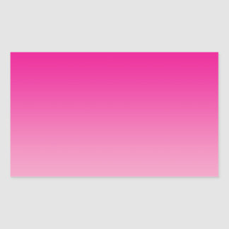 Pink Ombre Rectangular Sticker