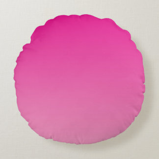 Pink Ombre Round Pillow