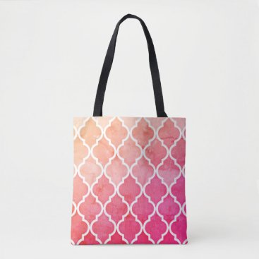 Beach Themed Pink Ombre Sunrise Tote Bag