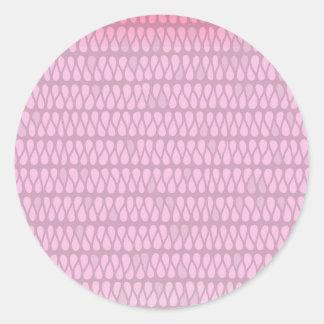 Pink Ombre Twist Classic Round Sticker