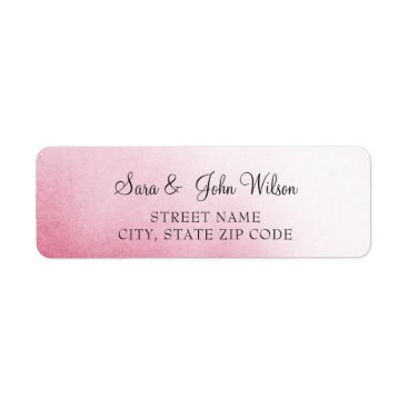 Pink Ombre Wedding address labels