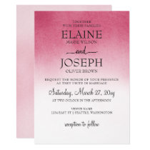 Pink Ombre Wedding Invitations