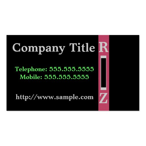 Pink On Black Business Card Templates