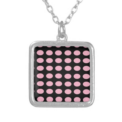 Pink on Black Dots Custom Jewelry
