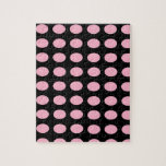 Pink on Black Dots Jigsaw Puzzles