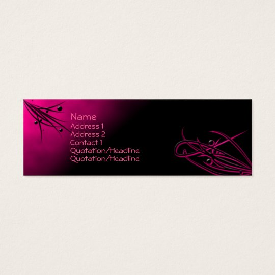 Pink on Black Flourish Profile Card