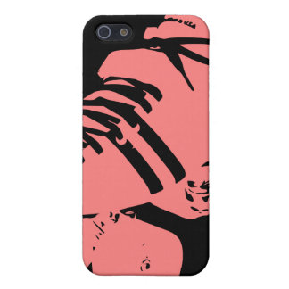 Pink on Black Roller Derby Skate iPhone Case Cover For iPhone 5