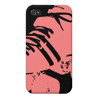 Pink on Black Roller Derby Skate iPhone Case iPhone 4 Covers