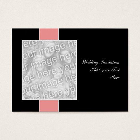 Pink on Black Wedding Invitation