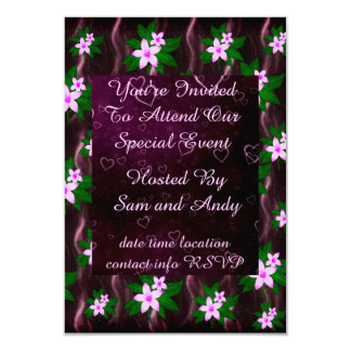 Pink On Dark Purple Card