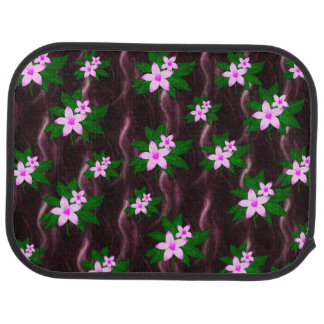 Pink On Dark Purple Car Mat