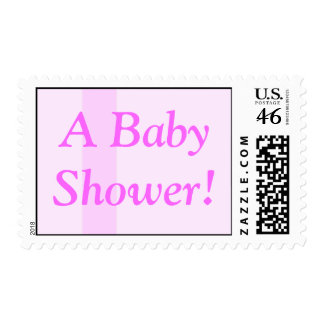Pink on Pink Baby Shower Stamp